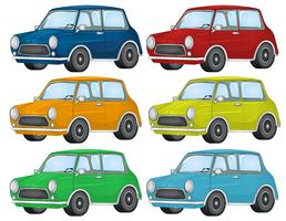 Set van verschillende auto
