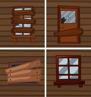 Verschillende omstandigheden van vensters