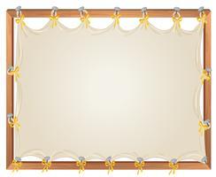Leeg houten bannermalplaatje