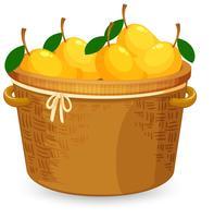 Een mand met mango