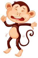 Een huilend apenkarakter vector