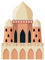 Een moskee op witte achtergrond vector