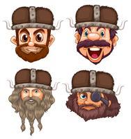 Set van Viking hoofd
