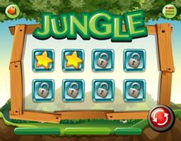 Spel sjabloon met jungle thema