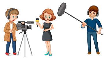 Set van uitzending nieuws tekens