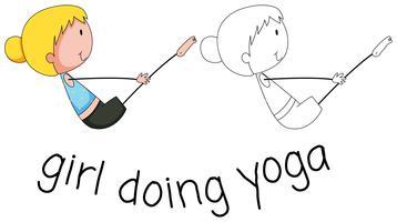 Meisje doet yoga ontwerp