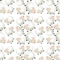Schapen op naadloos patroon