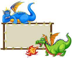 Draken en teken vector