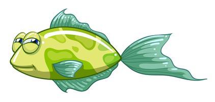 Een groene vis vector