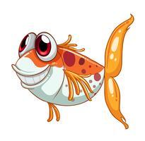 Een oranje vis met grote ogen