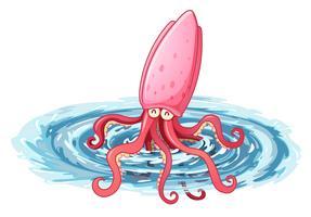 Een octopus onder de zee
