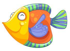 Een blije vis vector