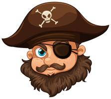 Piraat met hoed en ooglap