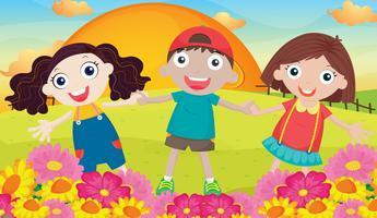kinderen en landcape