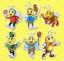Bijen en honing gezet