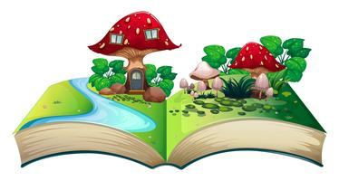 Paddestoel popup-boek