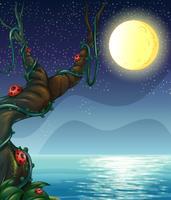 Een rivier en een maan