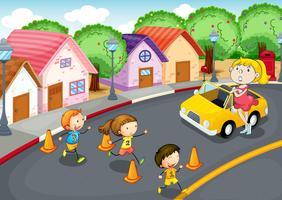 kinderen op de weg