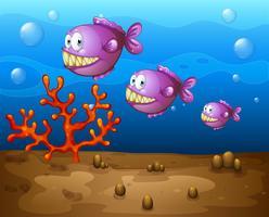 Vis onder water vector