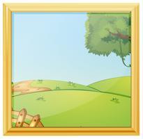 Een prachtig landschapsfotokader