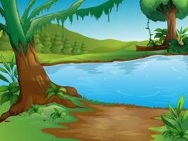 Een rivier vector