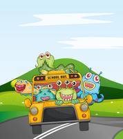 monsters in de schoolbus