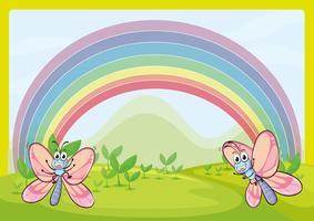 Vliegen en regenboog