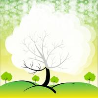 Een briefpapier met bomen