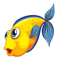 Een gele vis