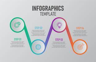 Infographic-sjabloon voor het bedrijfsleven.