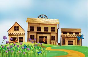 Huizen van verschillende stijlen