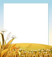 Een lege sjabloon met een heuveltop met planten vector