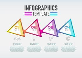 Vector moderne Infographic 3d-label, sjabloonontwerp.