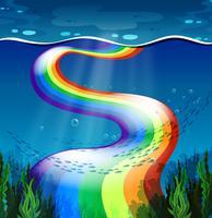 Regenboog en oceaan