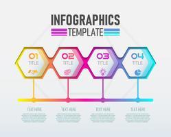 Vector moderne Infographic 3d-label, sjabloonontwerp. Bedrijfsconcept, Infograph met nummer 4 opties.