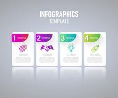 Modern Infographic-elementen vectorontwerp, malplaatje van grafiek met stap. vectorillustratie