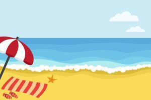 Tijd naar het strand vector