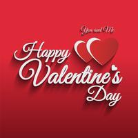 Happy Valentijnsdag vector hand belettering stijl.