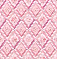 Bloemmotief Bloeien betegelde achtergrond. Diamant lijn ornament vector