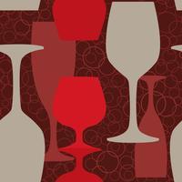 Wijnglazen patroon. Wijnglas naadloze achtergrond. Bar pub drinken