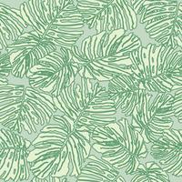 Naadloze bloemmotief. Palm laat achtergrond Bloei tuin textuur vector