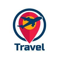 travel tourism pictogram op een witte achtergrond