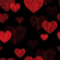 Liefde hart naadloze patroon. Happy Valentijnsdag achtergrond vector
