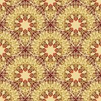 Arabische floral krul lijn sieraad. Oosterse bloem naadloze patroon vector