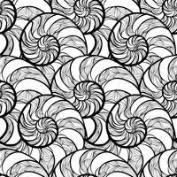 Abstract spiraalvormig naadloos patroon. Golf nautilus mariene achtergrond