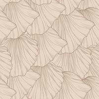Bloemen naadloos patroon van gegraveerde bloembloemblaadjes. Bloeien betegelde zachte achtergrond