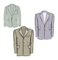 Mode stoffen set. Heren jas kleding. Mannelijke jas zakelijke kleding vector