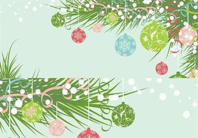 Kerst Ornament Behang Vector Pack