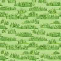 Bloemen naadloos patroon met gras. Weide tegel achtergrond vector