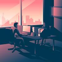 Office uur illustratie vector